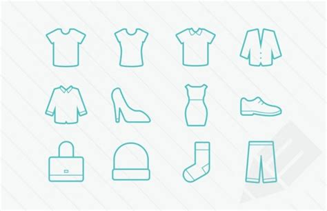 clothes vector design free download clothing icons vector glyphs vector free download