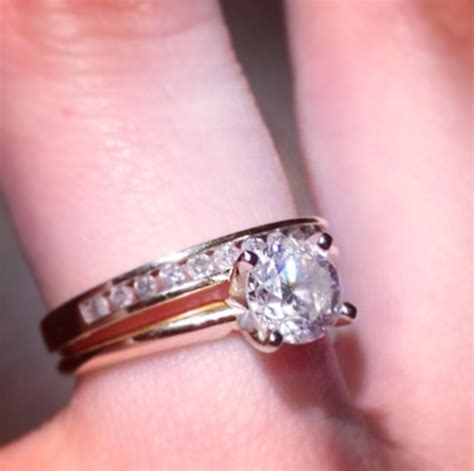 wedding rings shaped to fit engagement rings