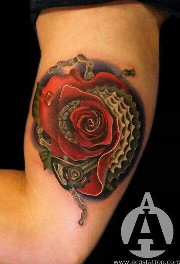 rose chain tattoo 56 best images about acosta on bike chain