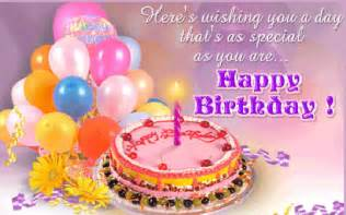 wishing you a happy birthday with cake and balloons