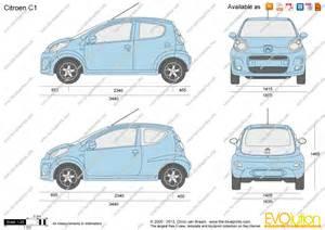 blueprints vector drawing citroen c1