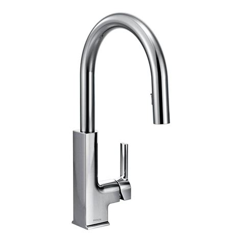 moen single kitchen faucet moen brantford single handle pull sprayer kitchen