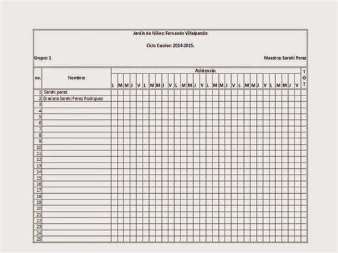 lista de asistencia formato en blanco pin lista de asistencia formato on pinterest