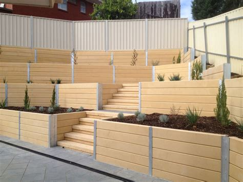 Cement Sleepers Adelaide by Brighton Concrete Sleepers Concrete Retaining Walls