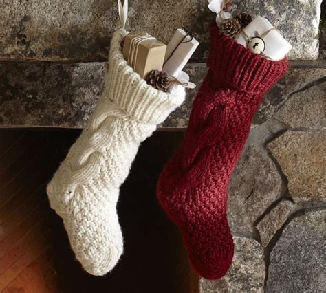 images of knitted christmas stockings cable knit christmas stockings