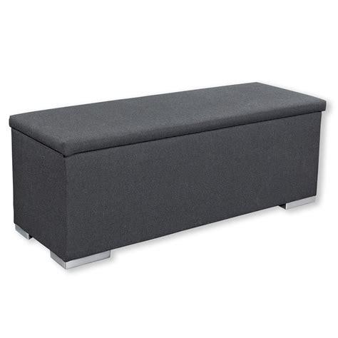 bettbank chest schwarz mit stauraum 140x52 cm - Bettbank Mit Stauraum