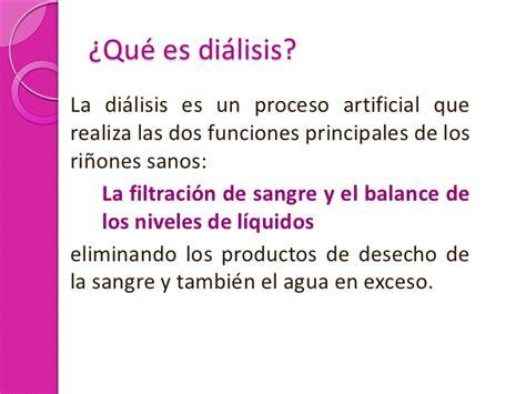 el gobierno afirma que no hay un proceso de destrucci 243 n de dialisis