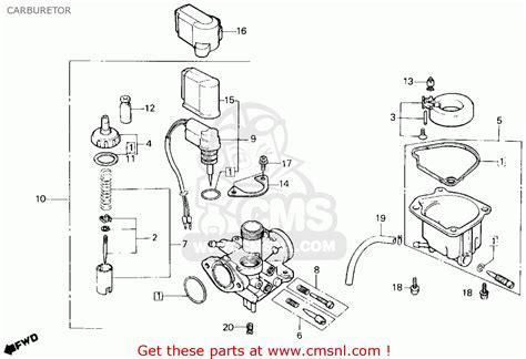 Honda Nq50 Spree 1987 H Usa Carburetor Schematic
