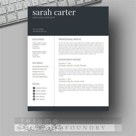 eye catching resume templates microsoft word free 17 best images about resume templates etsy on professional resume important