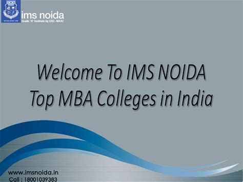 In India After Mba From Usa by Top Mba Colleges In India Authorstream