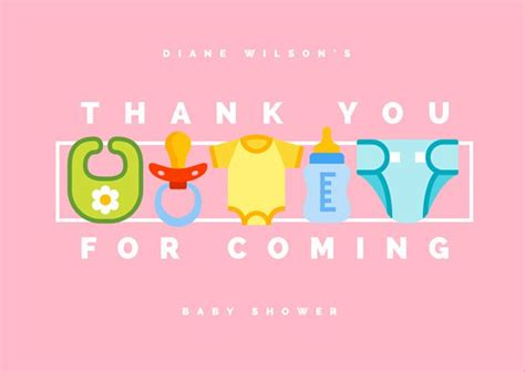 Thank You Gifts For Baby Shower Planners by Customize 239 Baby Shower Thank You Card Templates