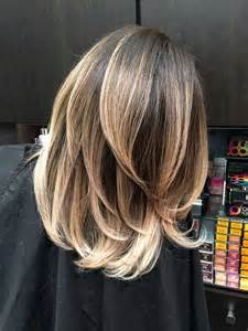 low lights on black shoulder length hair balayage hairstyles for medium length hair
