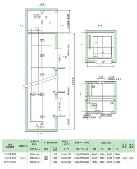 Small Home Elevator Size A Small Machine Room Elevator Standard Construction Size