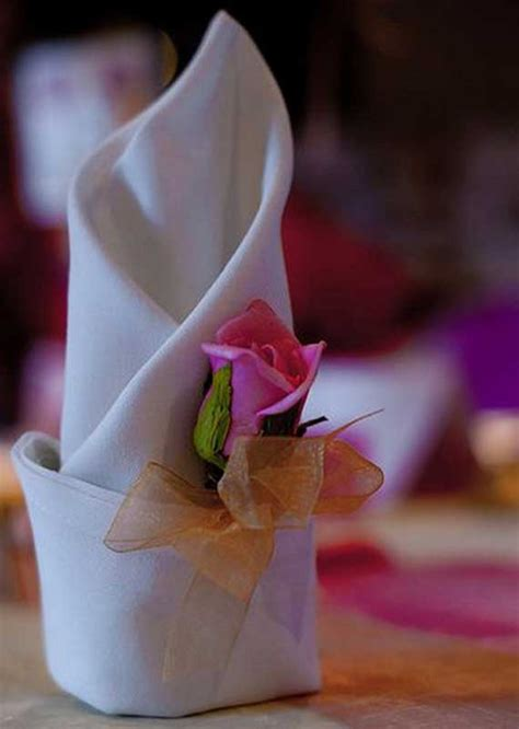 Paper Napkin Folding Ideas For Weddings - creative napkin folds for your table family