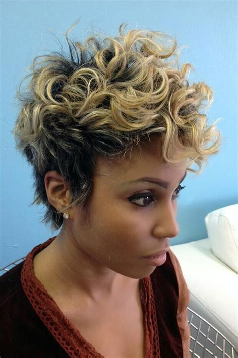 hairstyles for short blonde curly hair 20 hottest new highlights for black hair popular haircuts