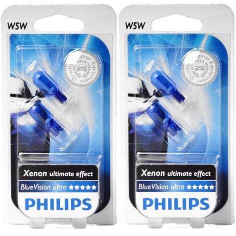 Lu Philips Blue Vision philips w5w blue vision ultra 4 bulbs videosom