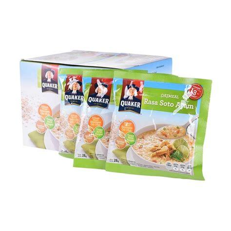 Quaker Oat Meal Soto Ayam Dan Kari Ayam jual quaker oatmeal rasa soto ayam cereal 28 g x 12