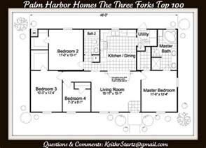 Standard Bathroom Layout Dimensions Palm Harbor Homes The Three Forks Top 100 Palm Harbor