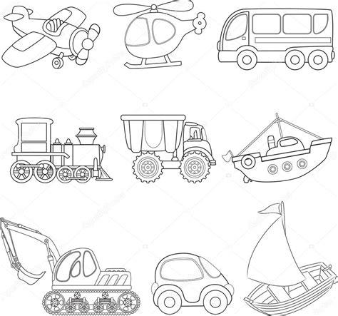 coloring conjuntos kreslen 253 doprava omalov 225 nky stock vektor 169 arnica83