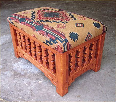southwestern chairs and ottomans southwestern accent furniture curio cabinets benches tables
