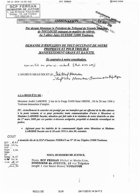 Modèle De Lettre Au Président Du Tribunal De Grande Instance