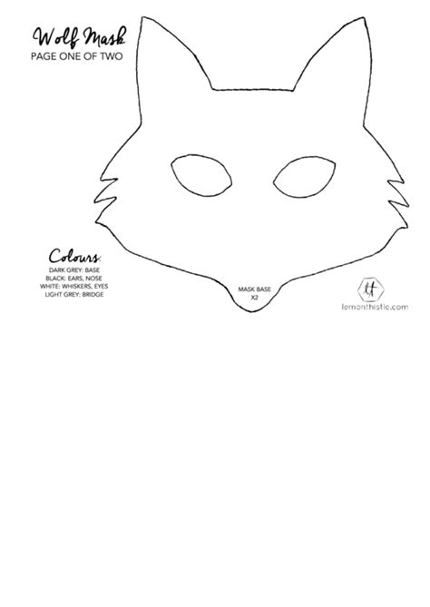 Wolf Ears Template top wolf mask templates free to in pdf format