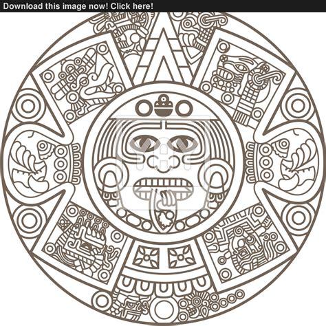 Calendario Azteca Vector Vector Of Stylized Aztec Calendar Picture