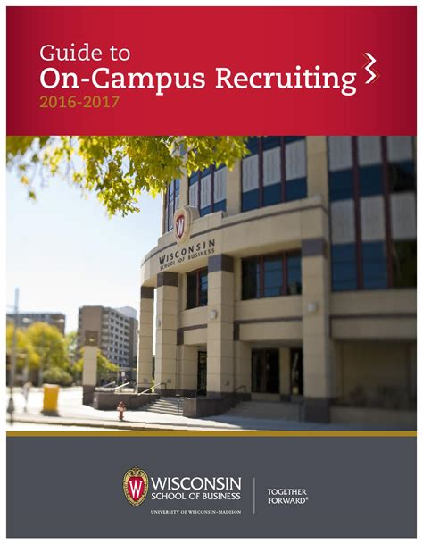 Accenture Mba Recruiting by Guide To On Cus Recruiting By Of Wisconsin