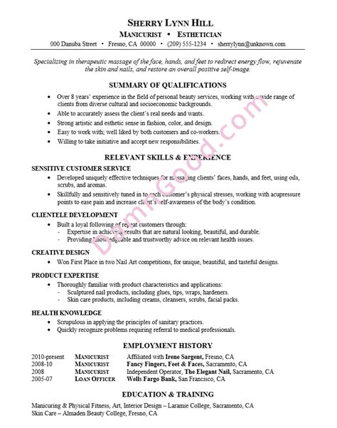 Manicurist Resume by No College Degree Resume Sles Archives Damn Resume Guide