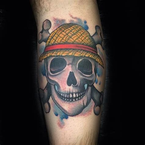 one piece skull tattoo 70 one piece tattoo designs for men japanese anime ink ideas