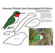 Hummingbird Ornament Felt Pattern  OCCASIONS AND HOLIDAYS