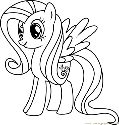 fluttershy coloring page free my little pony