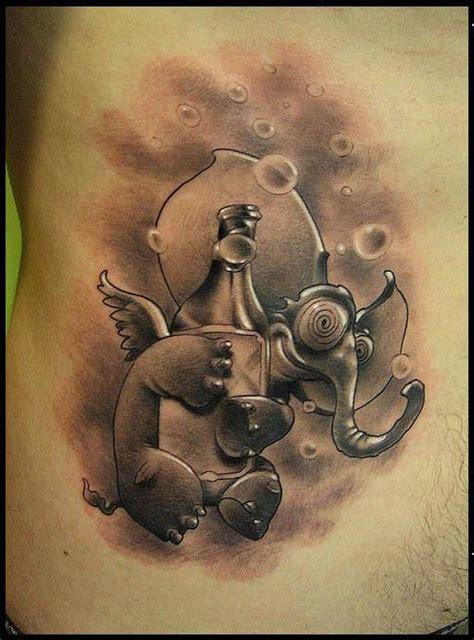 elephant tattoo on stomach cigla tattooer certified artist
