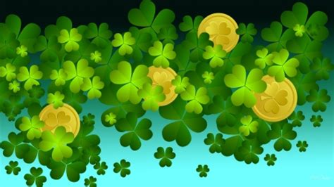 gold wallpaper ireland shamrock gold collages abstract background wallpapers