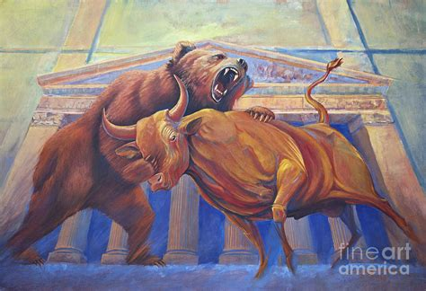 the complete bull vs bear roundup from the past week latest bear vs bull painting by rob corsetti