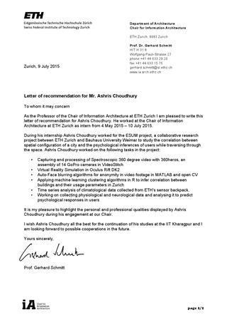 Of Zurich Letter Of Recommendation letter of recommendation by ashris choudhury issuu