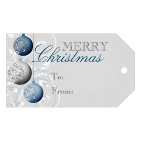 silver gift tags zazzle