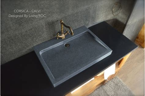 granite bathroom sink 27 quot gray granite stone bathroom sink corsica