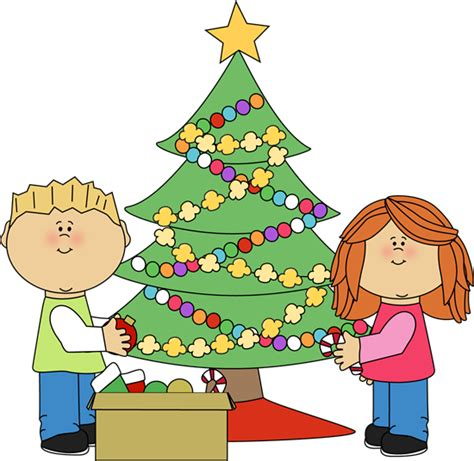 cartoon christmas tree december clip images