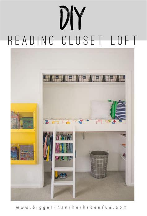closet reading loft reveal bigger than the three of us