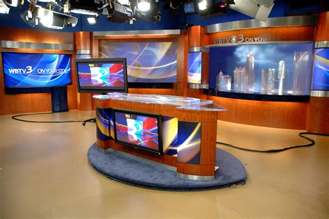 How To Design A Desk wbtv tv charlotte nc modular broadcast design