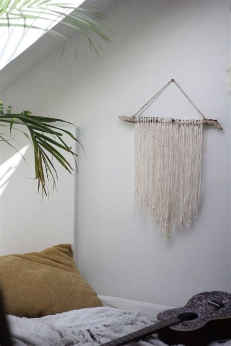 bedroom fabric wall hanging natural driftwood wall hanging the bird pinterest