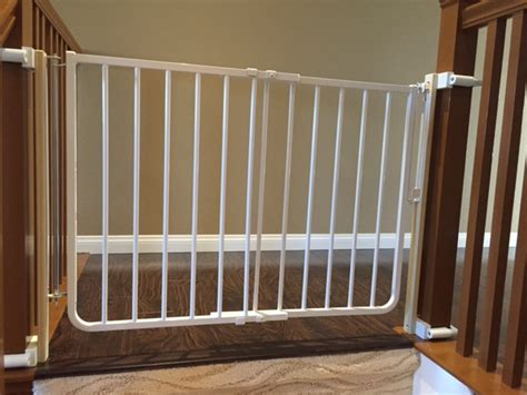 baby gate for top of stairs with banister and wall baby proofing safety gate chula vista baby safe homes