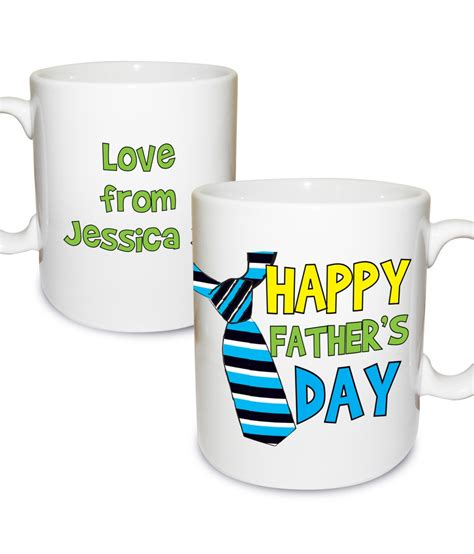 fathers day mug personalised happy s day tie mug just for gifts
