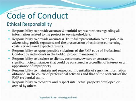 code of conduct template project human resource management