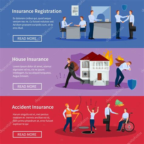 the personal house insurance personal and house insurance banners set stock vector 169 macrovector 109271288
