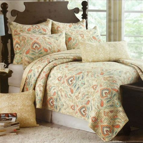cynthia rowley bedding cynthia rowley ischia medallion 3pc king quilt set moroccan orange aqua teal tan