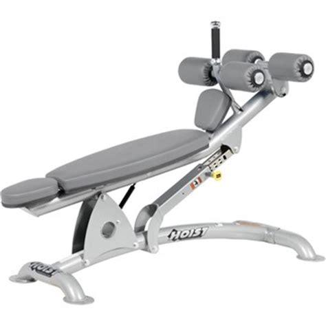 hoist adjustable decline bench hoist cf 3264 adjustable decline ab bench the fitness