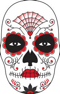 Day Of The Dead Mask Template by Surface Fragments How To Make A Day Of The Dead Mask