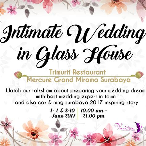 wedding organizer sukabumi 2017 intimate wedding in glass house trimurti restaurant